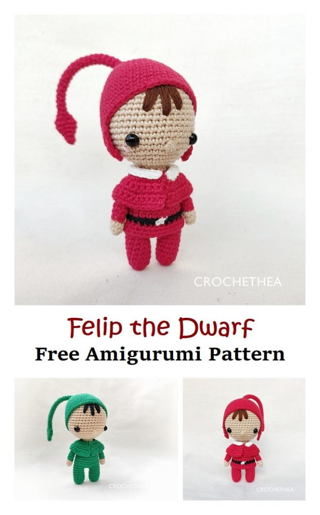 Felip the Dwarf Free Amigurumi Pattern