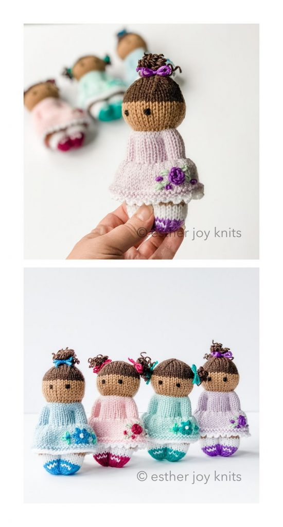 Flower Girls Free Knitting Pattern