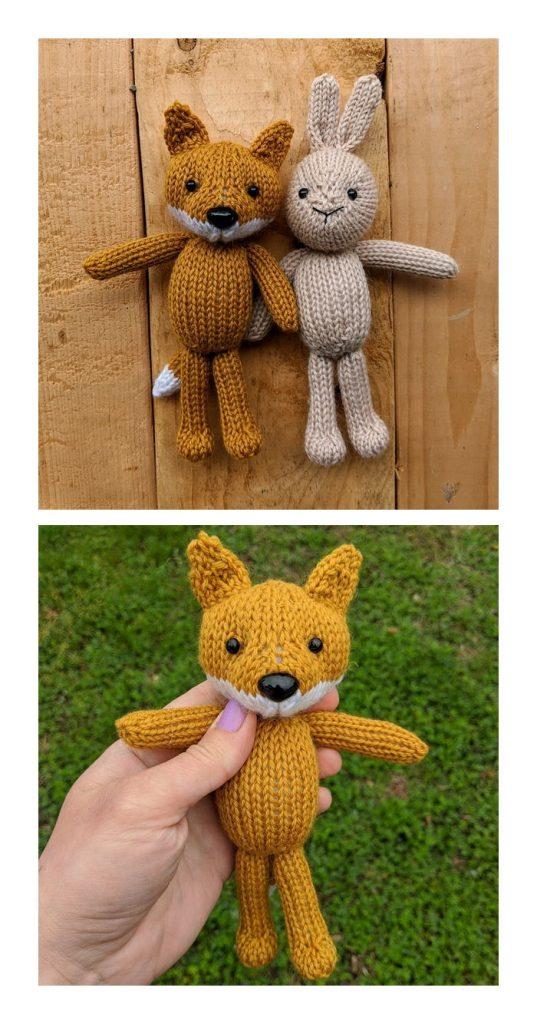 Fox & Bunny Free Knitting Pattern