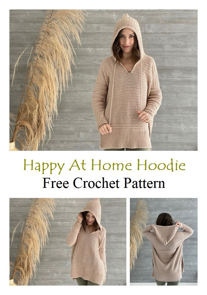 Happy At Home Hoodie Free Crochet Pattern