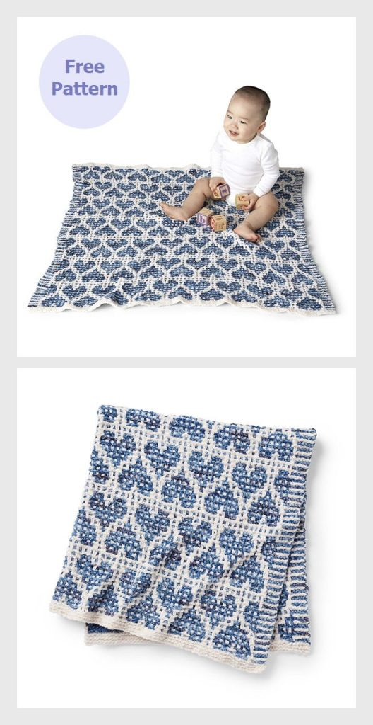 Party Heart-Y Mosaic Blanket Free Pattern