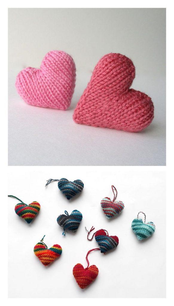 Hearts Free Knitting Pattern