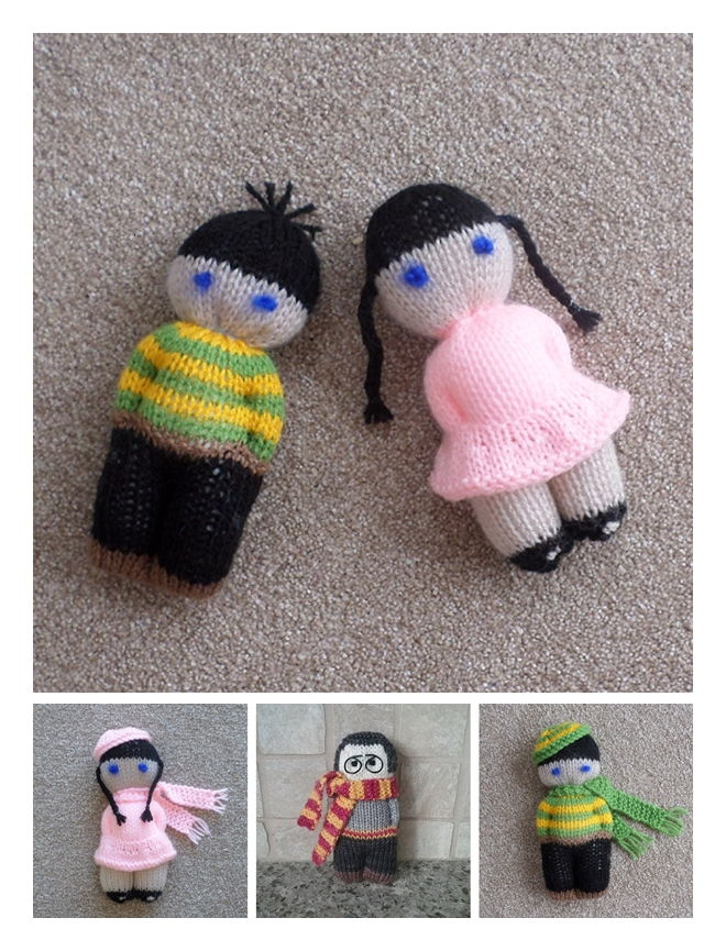 Jack and Jill Dolls Free Knitting Pattern