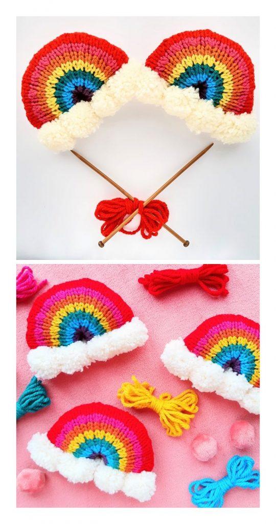 Brighten Your Day Knit Rainbow Stuffie Pattern