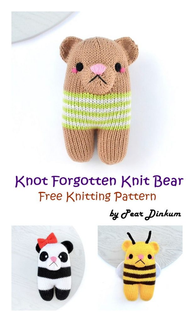Knot Forgotten Knit Bear Free Pattern