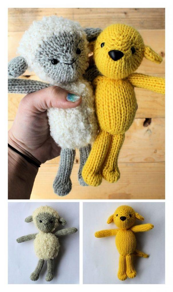 Lamb & Pup Free Knitting Pattern