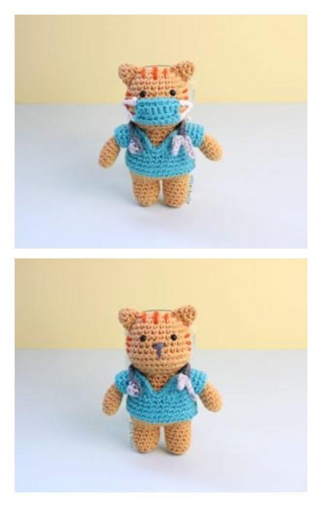 Nurse Cat Free Amigurumi Pattern
