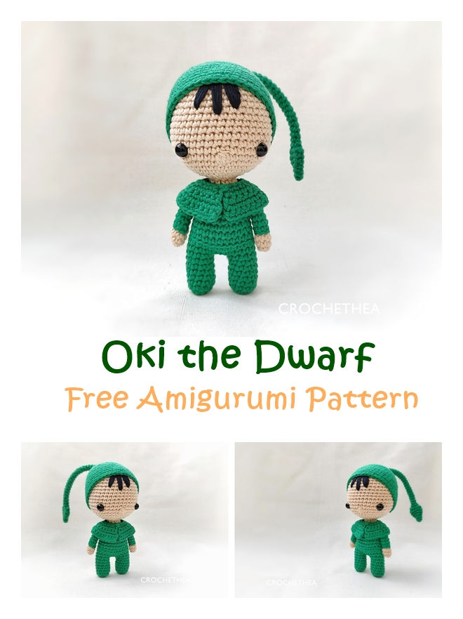 Oki the Dwarf Free Amigurumi Pattern