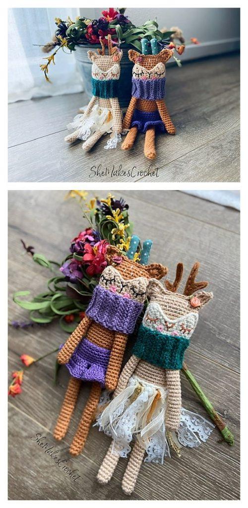 Rag Doll Deer Free Crochet Pattern