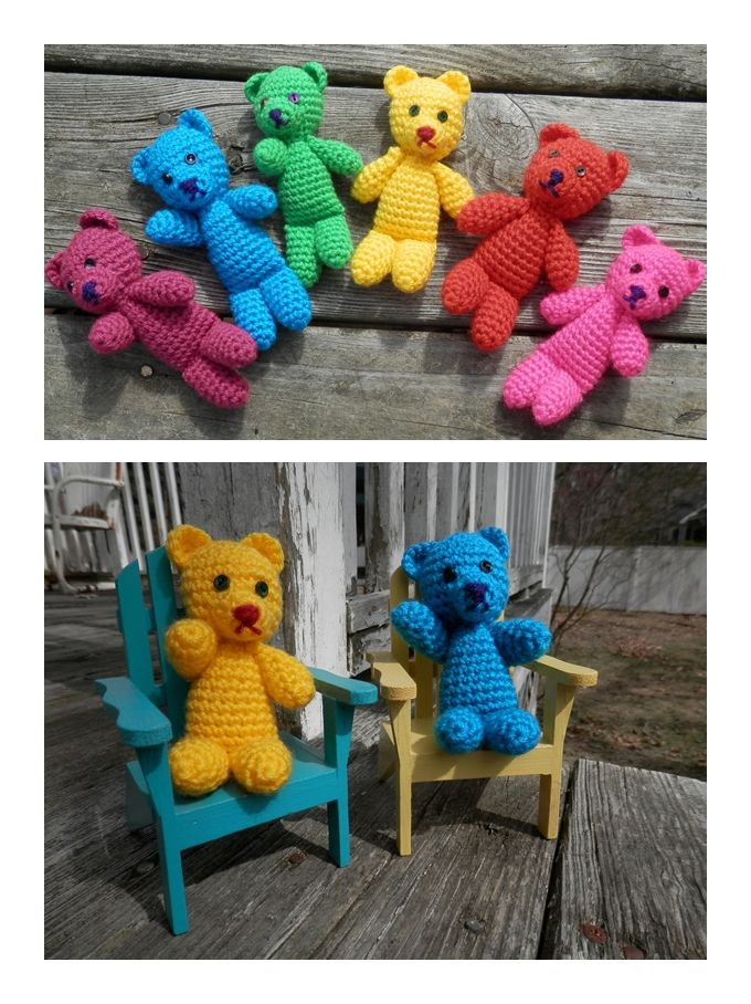 Rainbow Bear Free Crochet Pattern