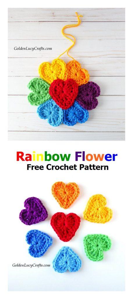 Rainbow Flower Free Crochet Pattern
