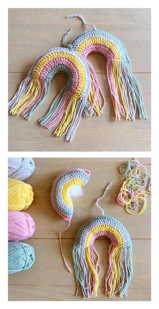 Rainbow Hanger Free Crochet Pattern
