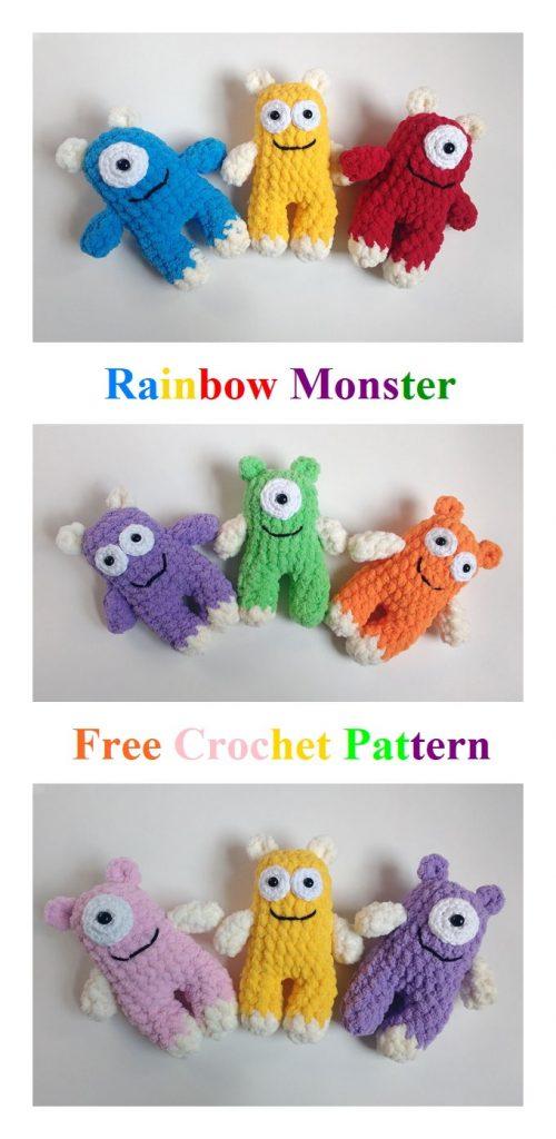 Rainbow Monster Free Amigurumi Pattern