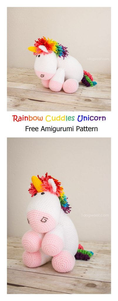 Rainbow Cuddles Unicorn Free Amigurumi Pattern