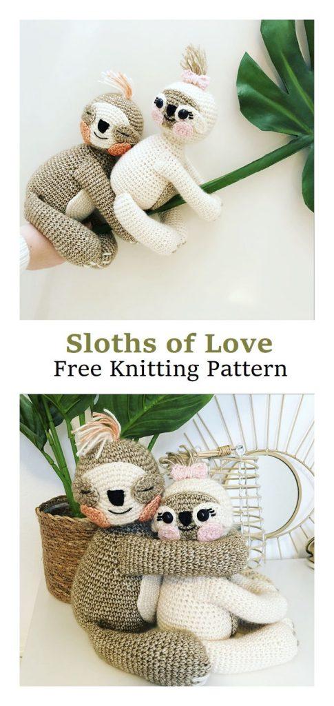 Sloths of Love Free Crochet Pattern
