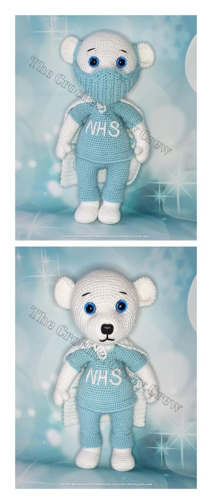 Super Hero Bear Free Amigurumi Pattern