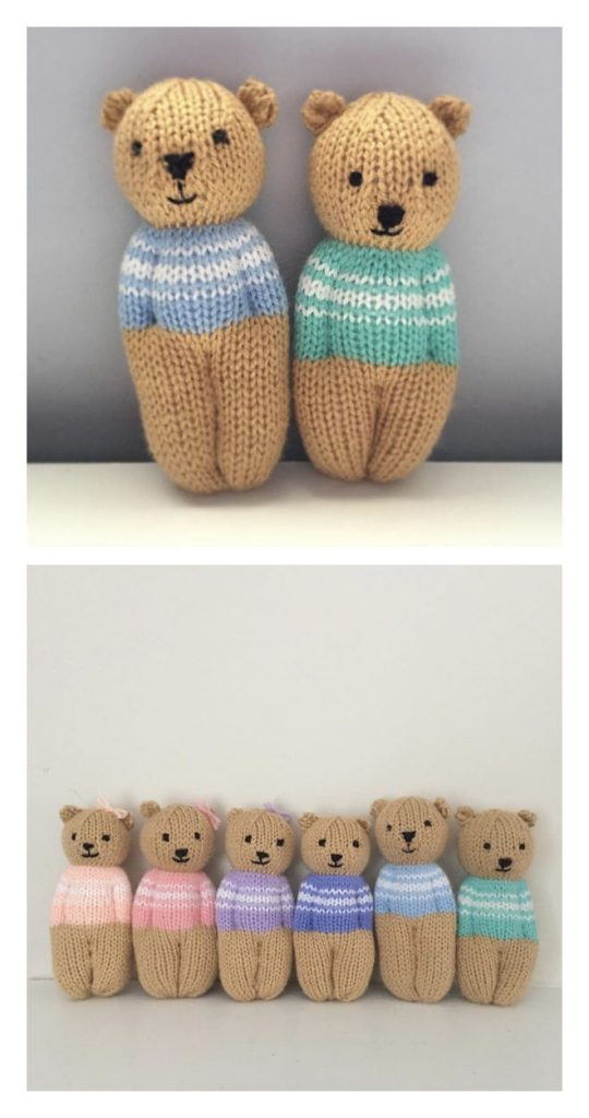 Izzy Teddy Bear Dolls Free Knitting Pattern