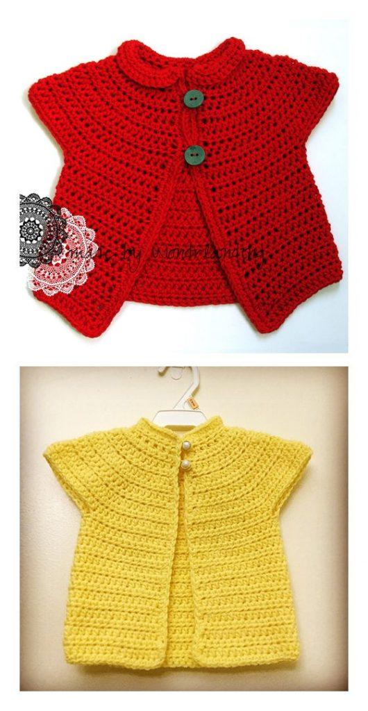 Azalea Baby Cardigan Free Crochet Pattern