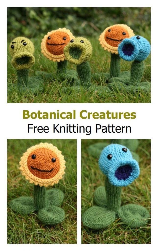 Botanical Creatures Free Knitting Pattern
