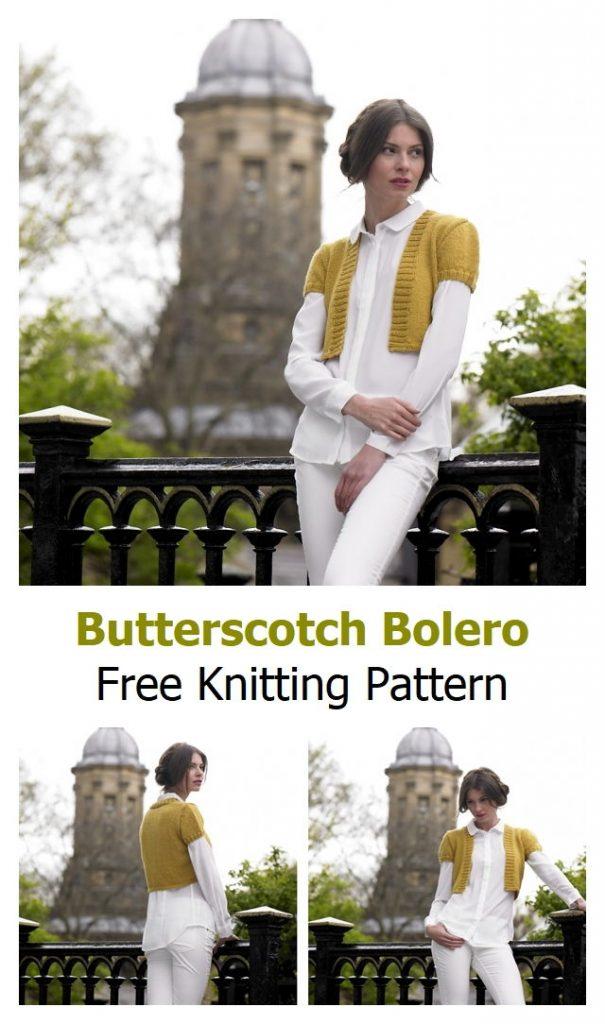 Butterscotch Bolero Free Knitting Pattern
