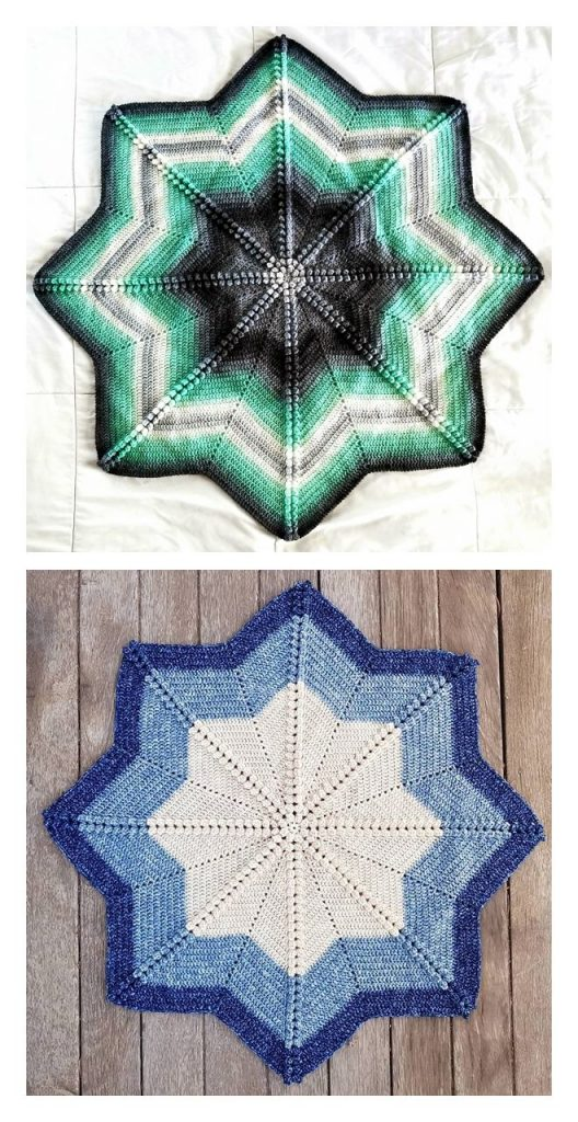 Compass Baby Blanket Free Crochet Pattern