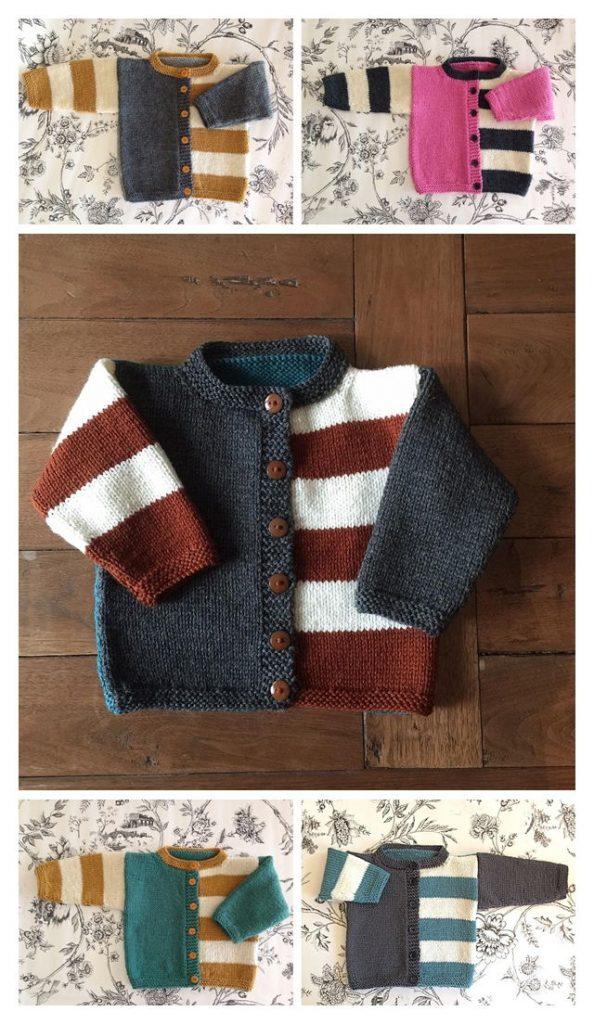 Gingersnap Baby Cardigan Free Knitting Pattern