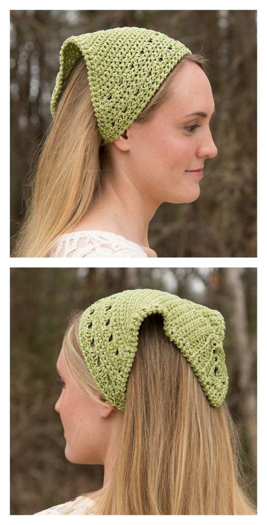 Ridgeline Kerchief Free Crochet Pattern