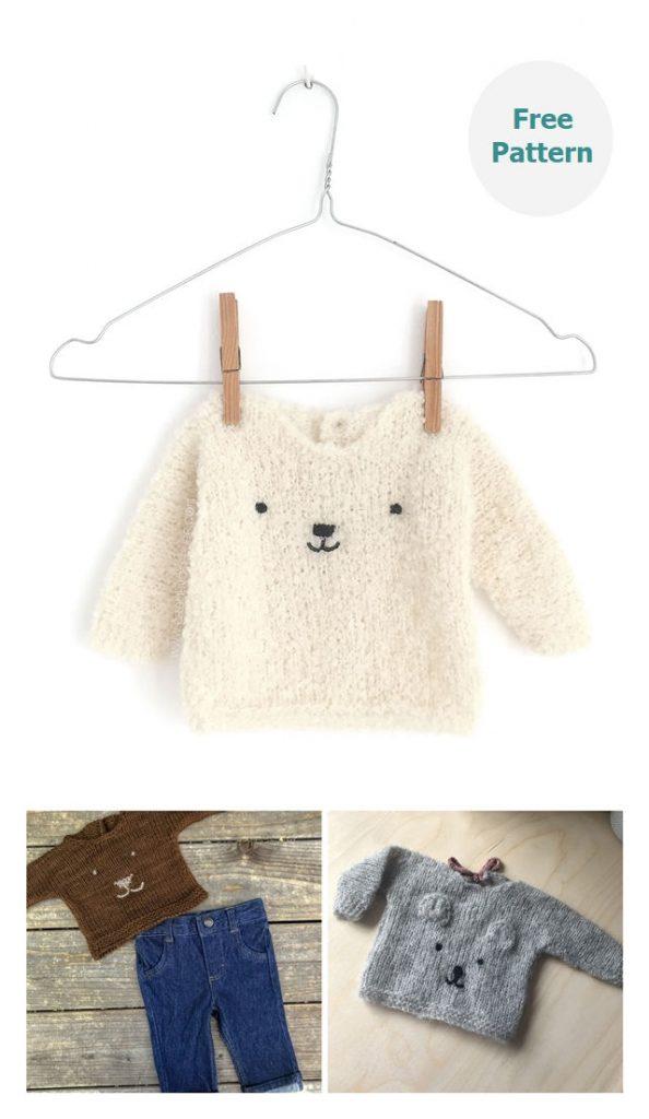 Teddy Bear Sweater Free Knitting Pattern