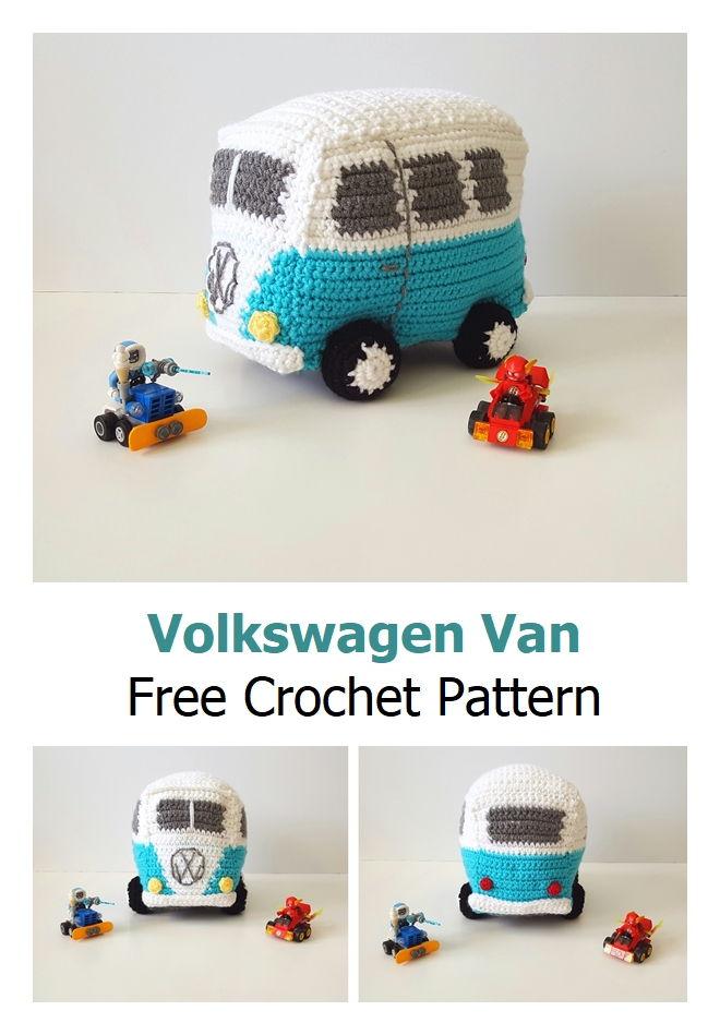 Volkswagen Van Free Crochet Pattern