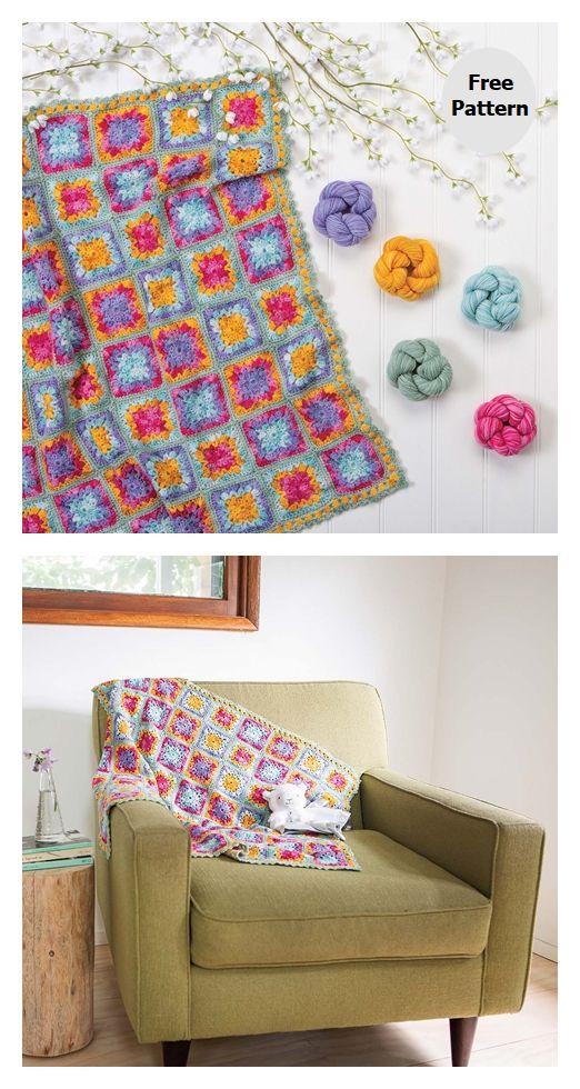 Wildflowers Baby Blanket Free Crochet Pattern