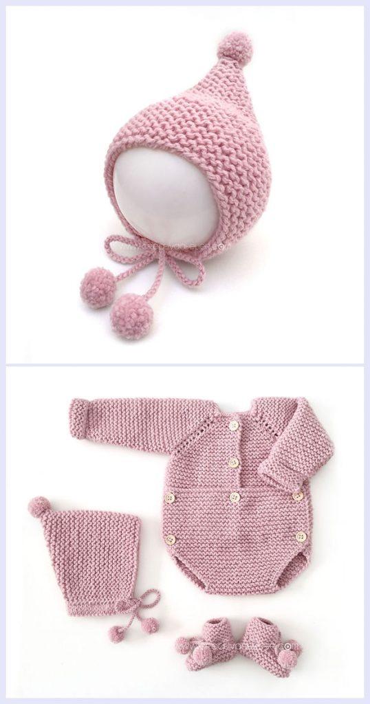 Baby Pom Pom Hat Free Knitting Pattern