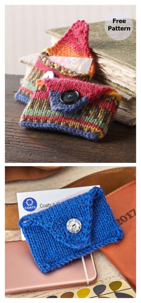 Handy Business Card Case Free Knitting Pattern