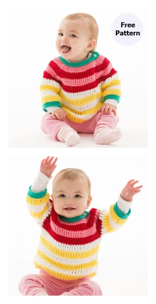 Colorful Striped Pullover Pattern
