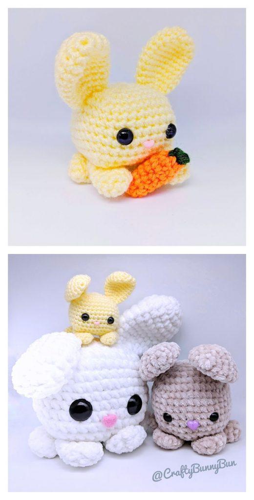 Cube Bunny Rabbit Free Amigurumi Pattern