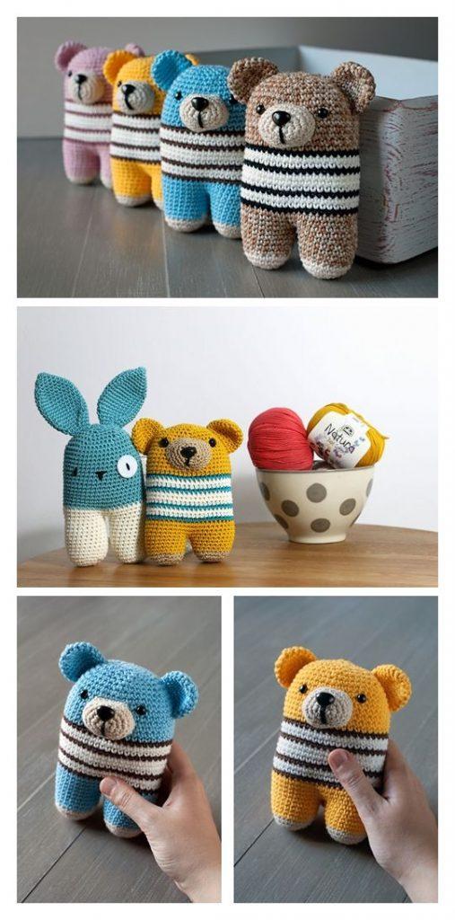 Donato Bear Free Amigurumi Pattern