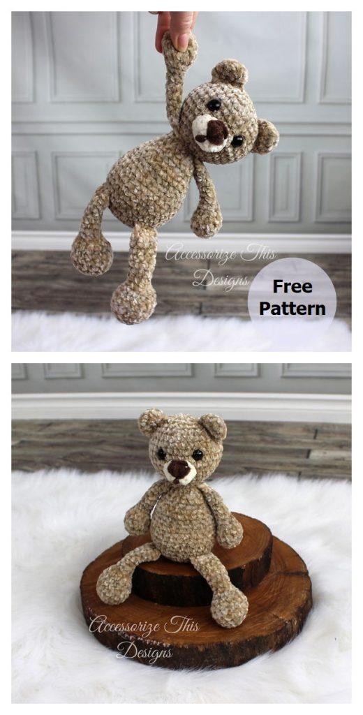 Flip Flop Teddy Bear Free Crochet Pattern