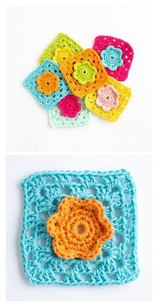 Flower Square Free Crochet Pattern