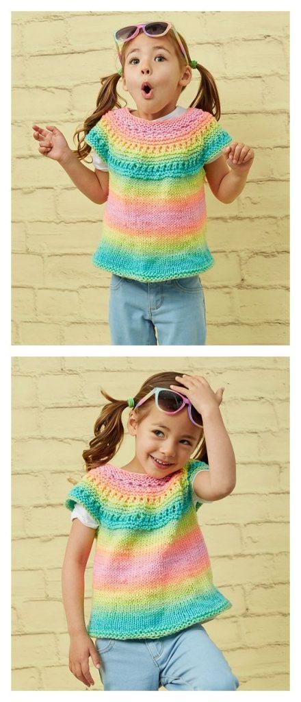 Girl Time Tunic Free Knitting Pattern