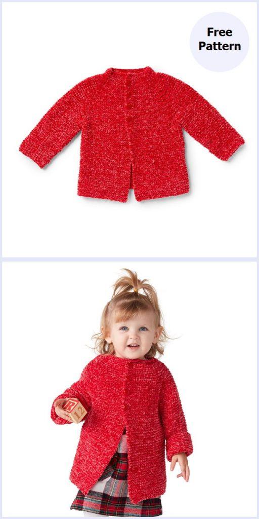 Go-Go Garter Jacket Free Knitting Pattern