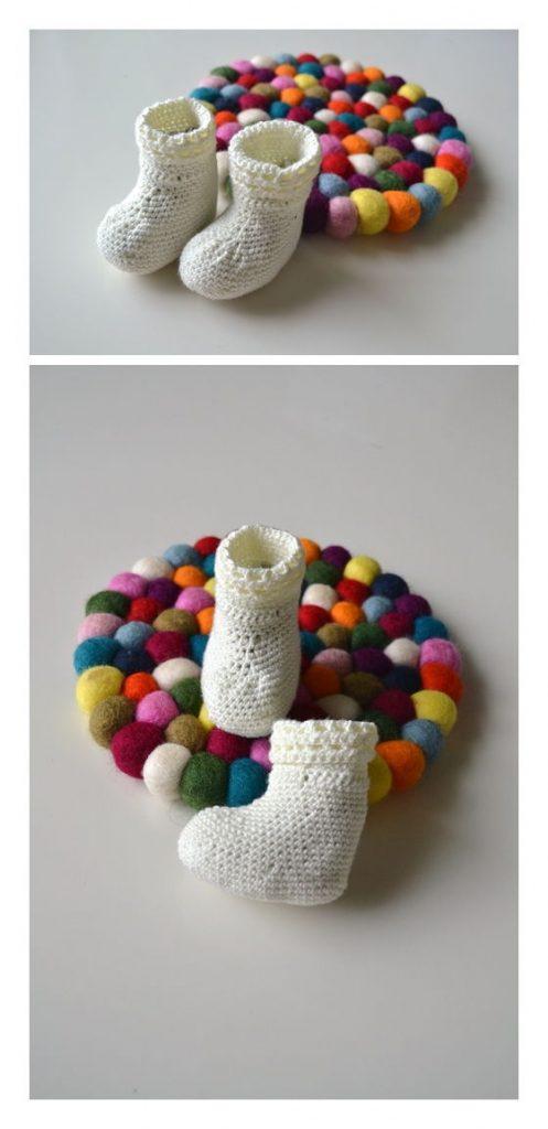Happy Feet Baby Socks Free Crochet Pattern