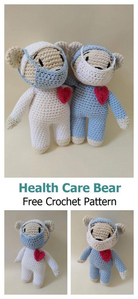 Health Care Bear Free Crochet Pattern