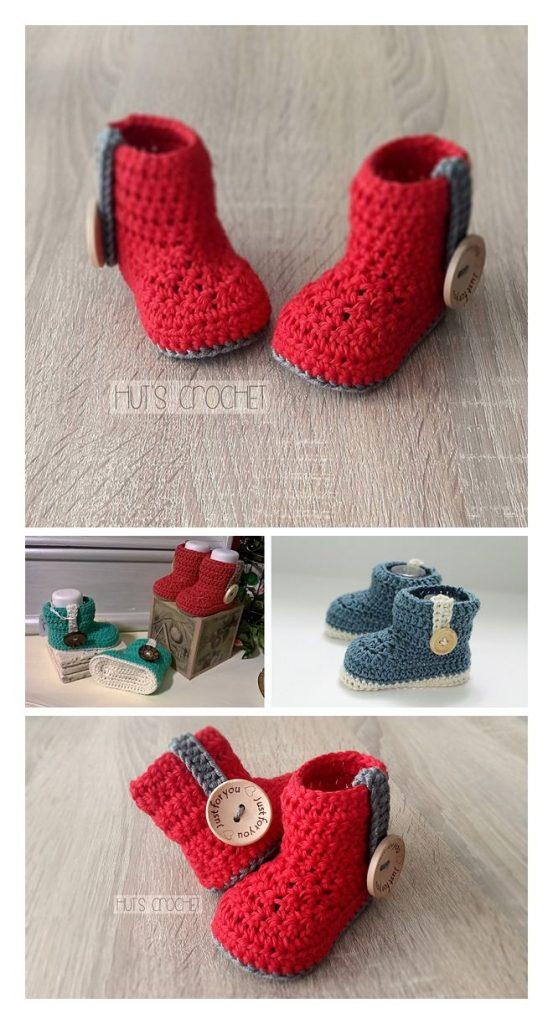 Hut's Amore Booties Free Crochet Pattern