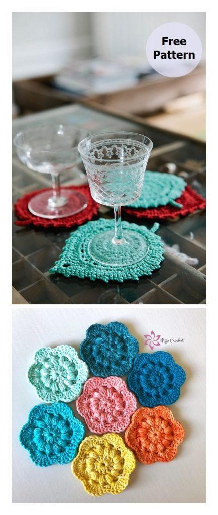 Leaf Coasters Free Crochet Pattern