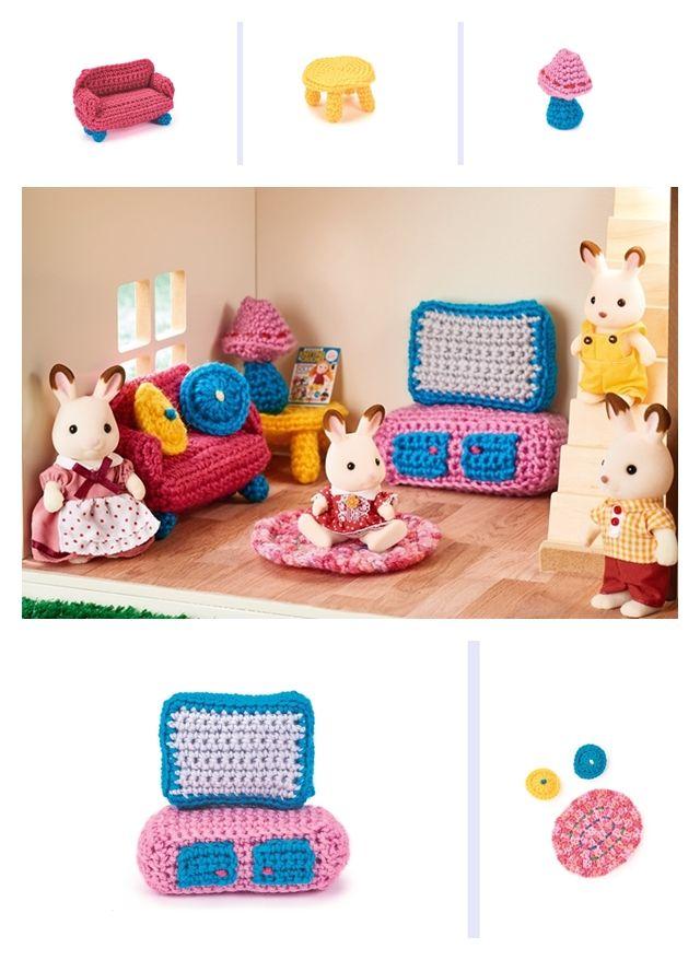 Doll's House Furniture: Living Room crochet pattern
