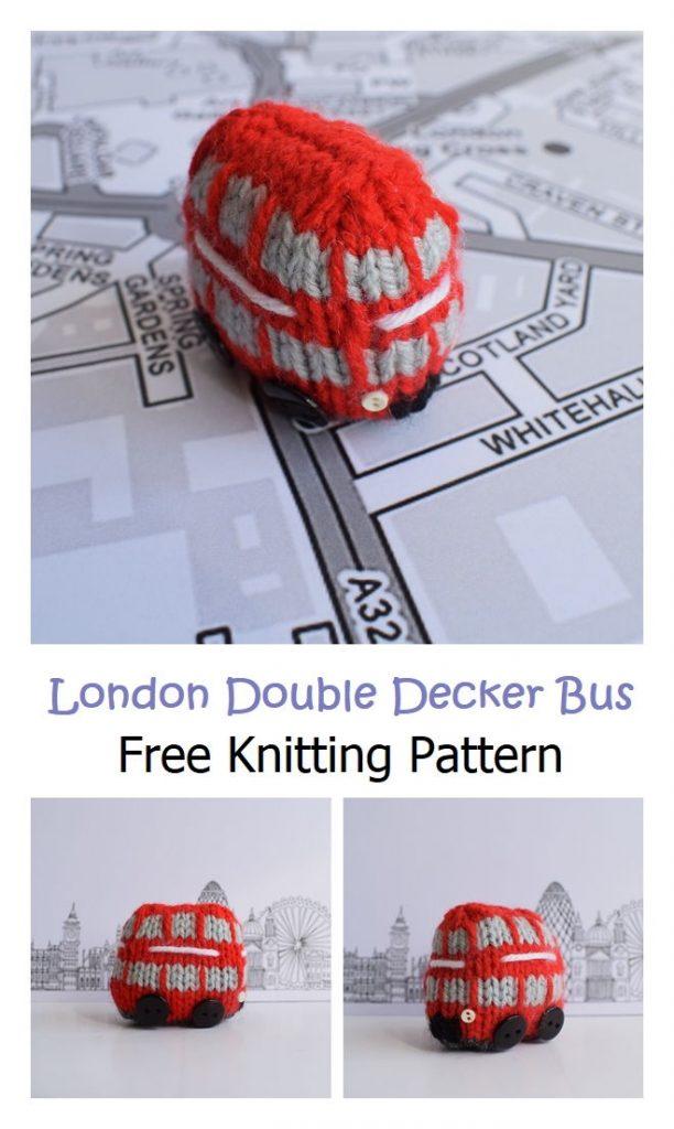 London Double Decker Bus Free Knitting Pattern
