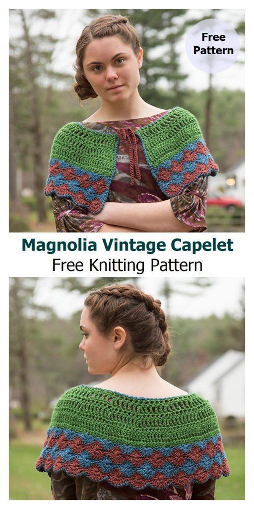 Magnolia Vintage Capelet Free Crochet Pattern