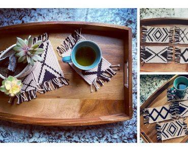 Modern Mug Rugs Free Crochet Pattern