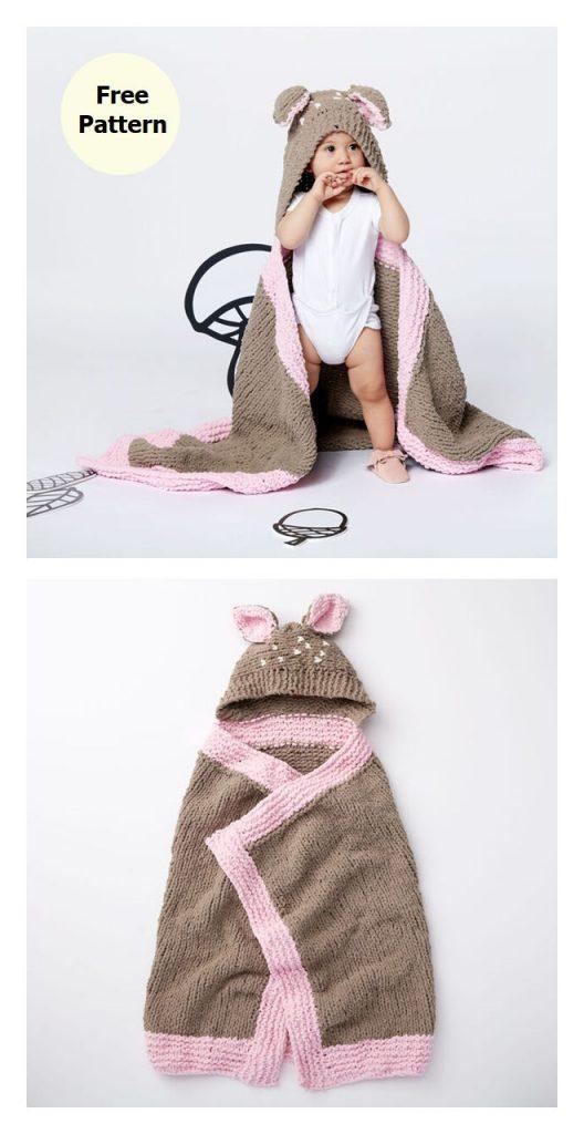 Oh Deer Blanket FRee Knitting Pattern