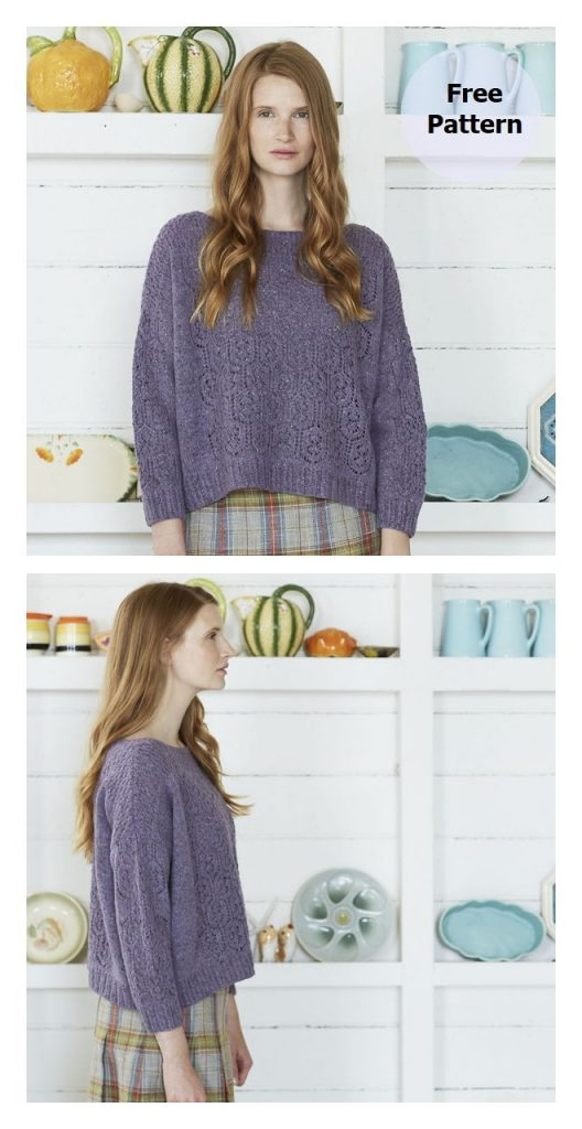 Orchid Pullover Free Knitting Pattern