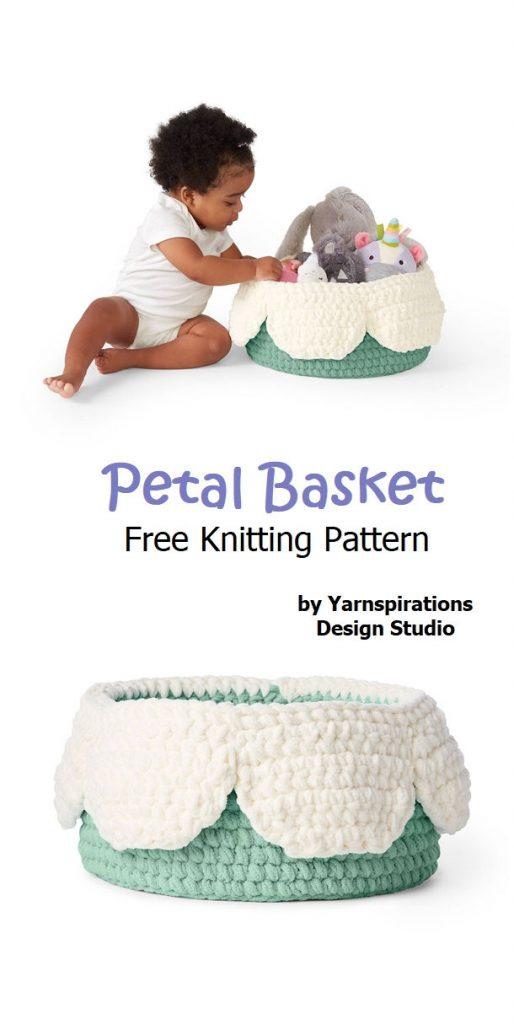 Petal Basket Free Crochet Pattern